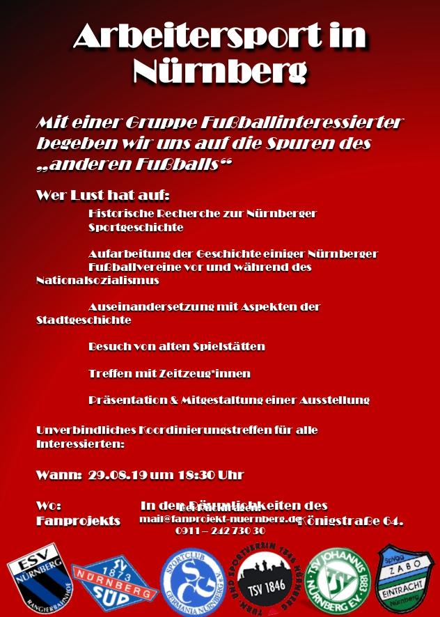 Rechercheprojekt zu Arbeitersport in Nürnberg