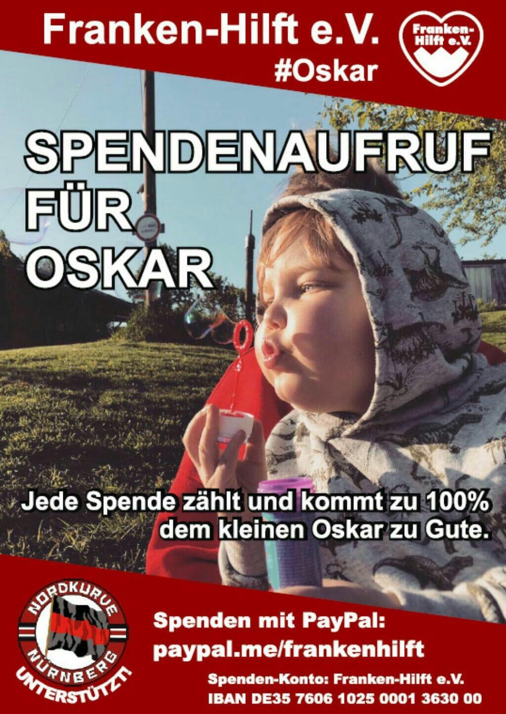 Becherspenden für den kleinen Oskar – helft alle mit!