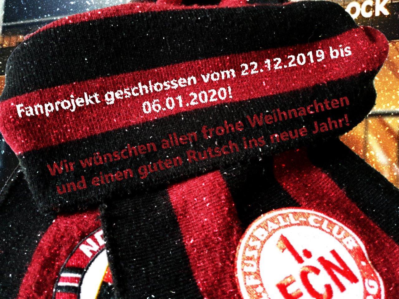 Fanprojekt im Weihnachtsurlaub vom 22.12.19 – 06.01.20